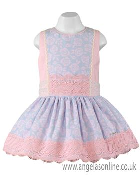 Miranda Girls Dress 23-0220-V Pink