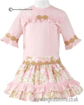 Miranda Girls Blouse & Skirt 23-0232-2F