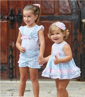 Miranda Girls T shirt and Shorts 23-0262-23 Blue