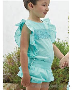 Miranda girls blouse & short 23-0278-23 Turq