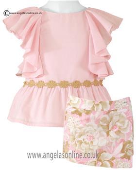 Miranda girls summer blouse & skort 23-0331-23