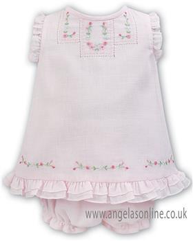 Sarah Louise baby girls dress & panty 011058 Pink