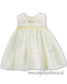 Sarah Louise baby girls dress 011064 Lemon
