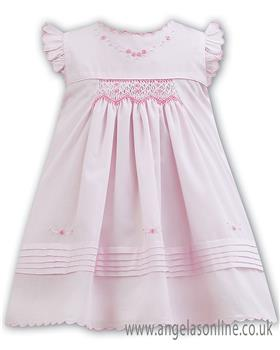 Sarah Louise baby girls dress 011065 Pink