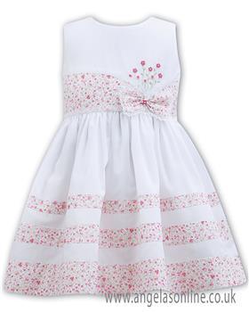 Sarah Louise baby girls dress 011135 Pink