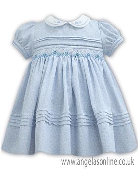 Sarah Louise girls summer dress 011128 WH-BL