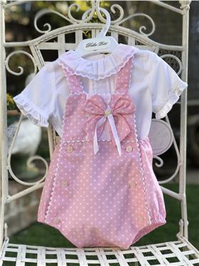 Dolce Petit baby girls blouse & dungaree 23-2001-2C3 Pink