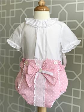 Dolce Petit baby girls blouse & jam pant 23-2001-2002-3 Pink