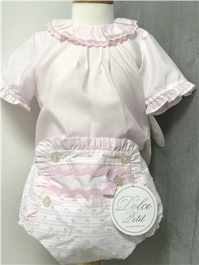 Dolce Petit baby girls blouse & jam pant 23-2001-2022 Pink