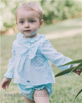 Dolce Petit baby girls blouse & panty 23-2133-23 Aqua