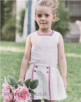 Dolce Petit girls blouse & skirt 23-2201-23