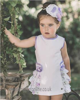 Dolce Petit Girls Dress 23-2249-V Lilac