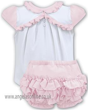 Sarah Louise baby girls T shirt & frilled short 011062-063