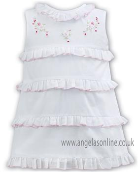 Sarah Louise baby girls dress 011093 white