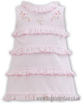 Sarah Louise baby girls dress 011093 Pink