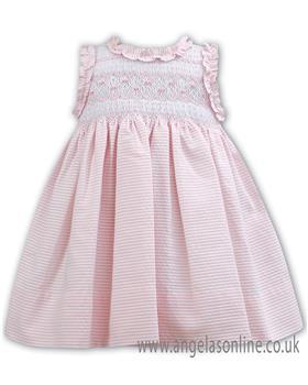 Sarah Louise baby girls dress 011126 Pink