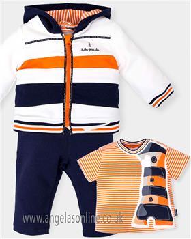 Tutto Piccolo Boys Tracksuit & Tshirt 4612-4112-18 Navy