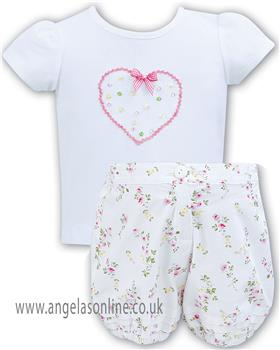 Sarah Louise baby girls T shirt & short 011141-42
