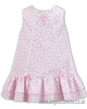 Dani girls pink a line summer dress with frill bottom D09233.