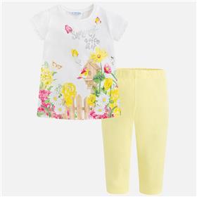 Mayoral girls legging set 3714-18 lemon