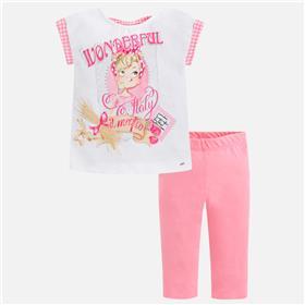 Mayoral girls legging set 3712-18 Pink