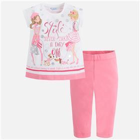 Mayoral girls legging set 3516-18 Pink