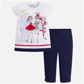 Mayoral girls legging set 3718-18 Navy