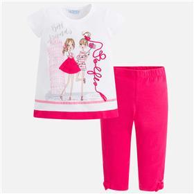 Mayoral girls legging set 3718-18 Cerise