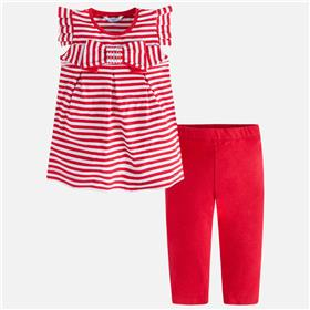 Mayoral girls legging set 3708-18 Red