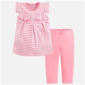 Mayoral girls legging set 3708-18 pink