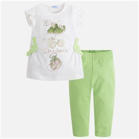 Mayoral girls legging set 3518-18 Green