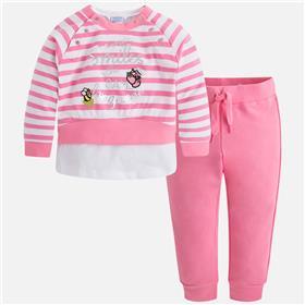 Mayoral girls jog suit 3808-18 Pink