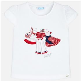 Mayoral girls top & legging 3002-3704-18 Red