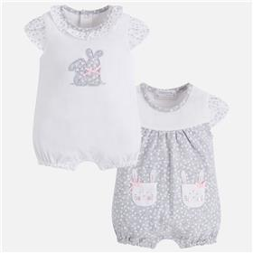 Mayoral baby girls romper all in one 1740-18 Grey