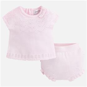 Mayoral baby girls knit suit 1210-18 Pink