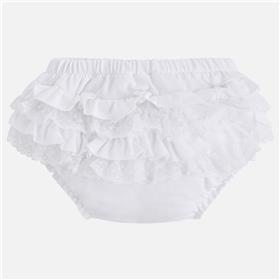Mayoral baby girls frill knicks 9757-18 White