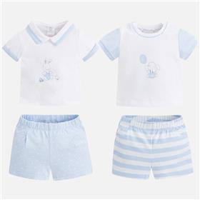 Summer Mayoral Baby Boys Blue Short Set Outfit 1626 18 Blue