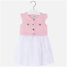 Mayoral girls summer dress 3976-18 Pink