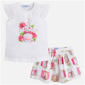 Mayoral girls top & skirt 3993-18 Pink