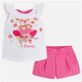 Mayoral girls top & short 3226-18 Pink