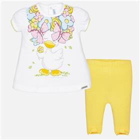 Mayoral Baby Girls Legging Set 1761-18 Yellow