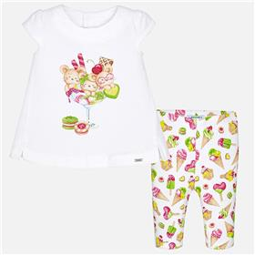 Mayoral Baby Girls Legging Set 1774-18 Green