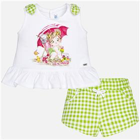 Mayoral Baby Girls Short Set 1254-18 Green