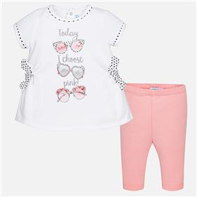 Mayoral Baby Girls Legging Set 1772-18 Pink