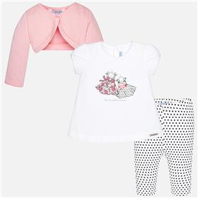 Mayoral Baby Girl 3 Pce Set 1751-18 Pink