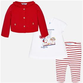Mayoral Baby Girls 3 Pce Set 1770-18 Red