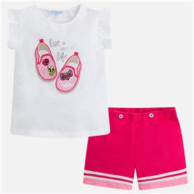 Mayoral Girls Short Set 3238-18 Pink
