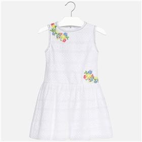 Mayoral girls summer dress 6962-18 WH