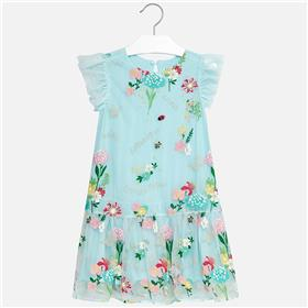 Mayoral girls summer dress 6932-18 Turq