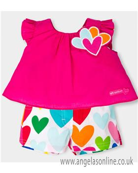 Agatha Ruiz girls blouse & short 5627-18